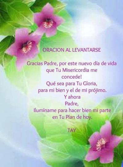 Oracion De La Mañana Catholic Prayers Daily Morning Prayers God Loves You
