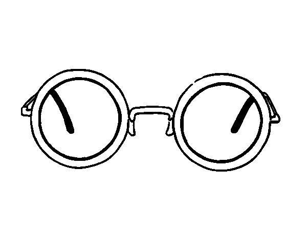 Dibujo De Gafas Redondas Modernas Para Colorear Figurin Gafas