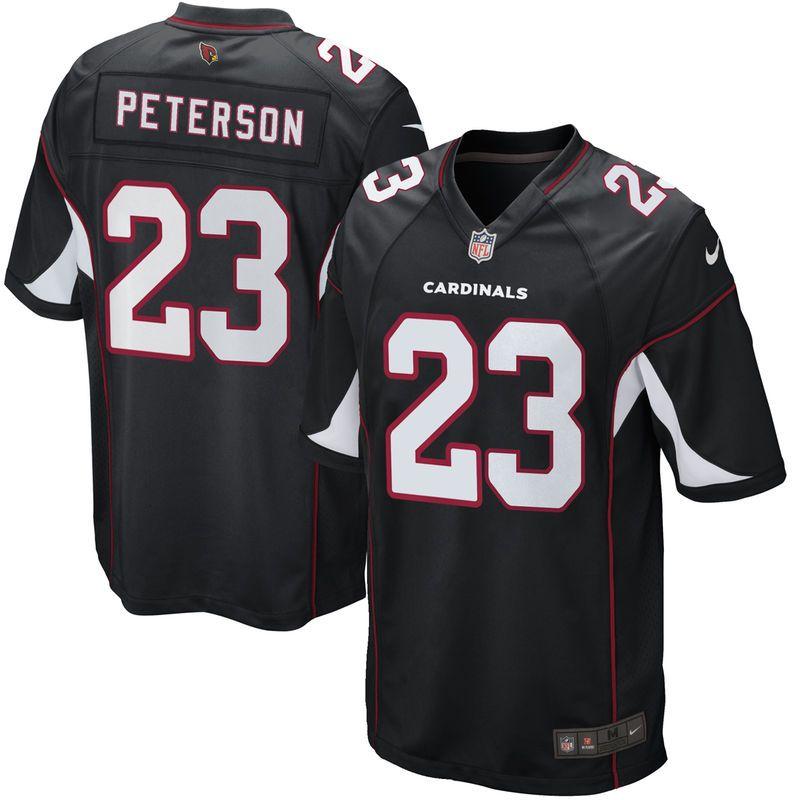 half off e1213 14525 Adrian Peterson Arizona Cardinals Nike Game Jersey - Black ...
