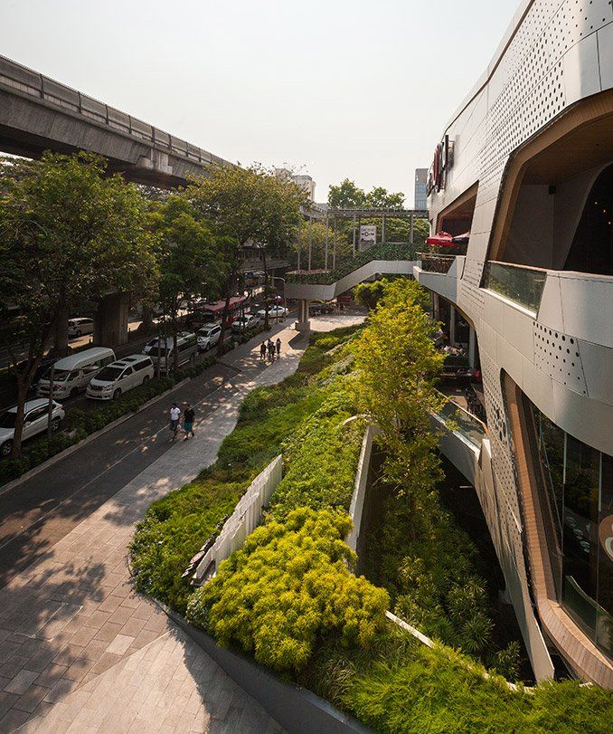 Walk Of The Town The Landscape Architecture Of Groove Central World Bangkok Thailand Asia Retail Mixed Landscape Landscape Architecture Urban Landscape