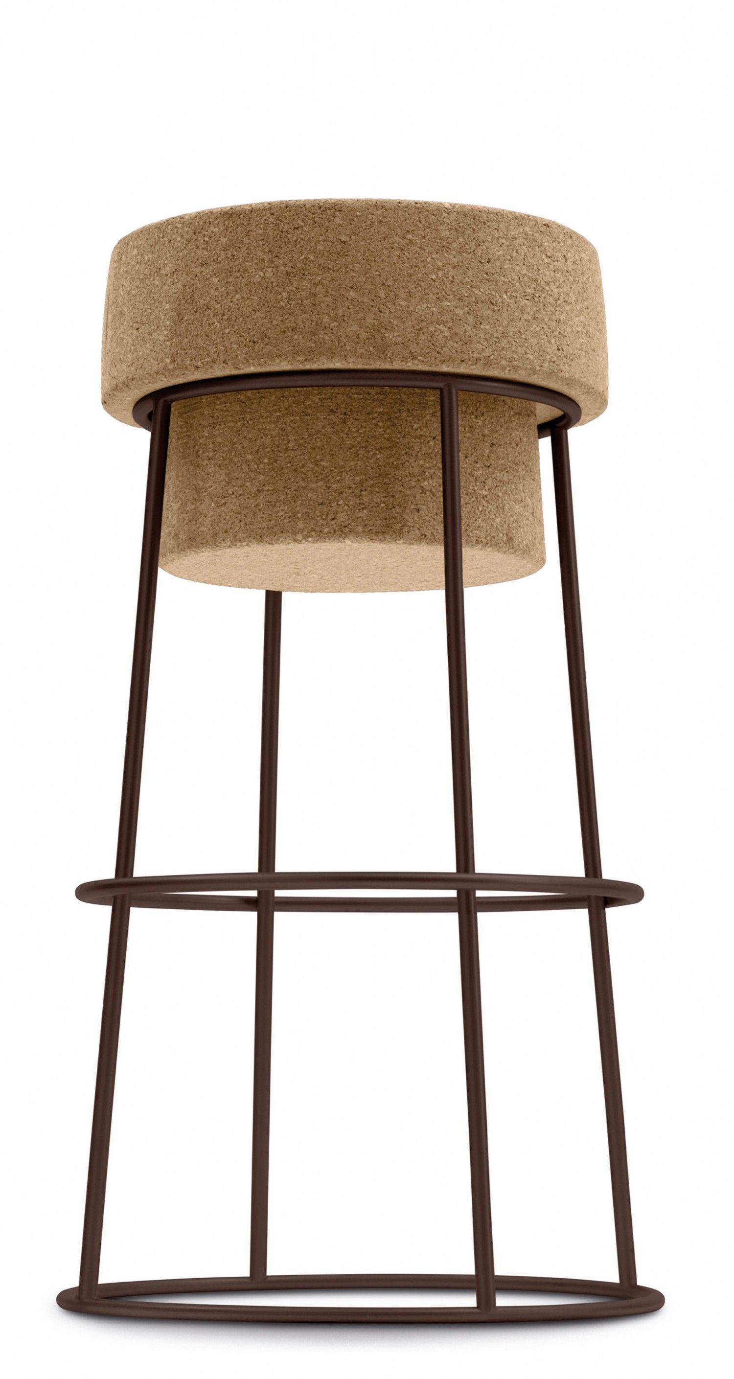 Domitalia Bouchon Stool Frame Bronze Seat Height Counter Bar Stools Modern Bar Stools Counter Stools