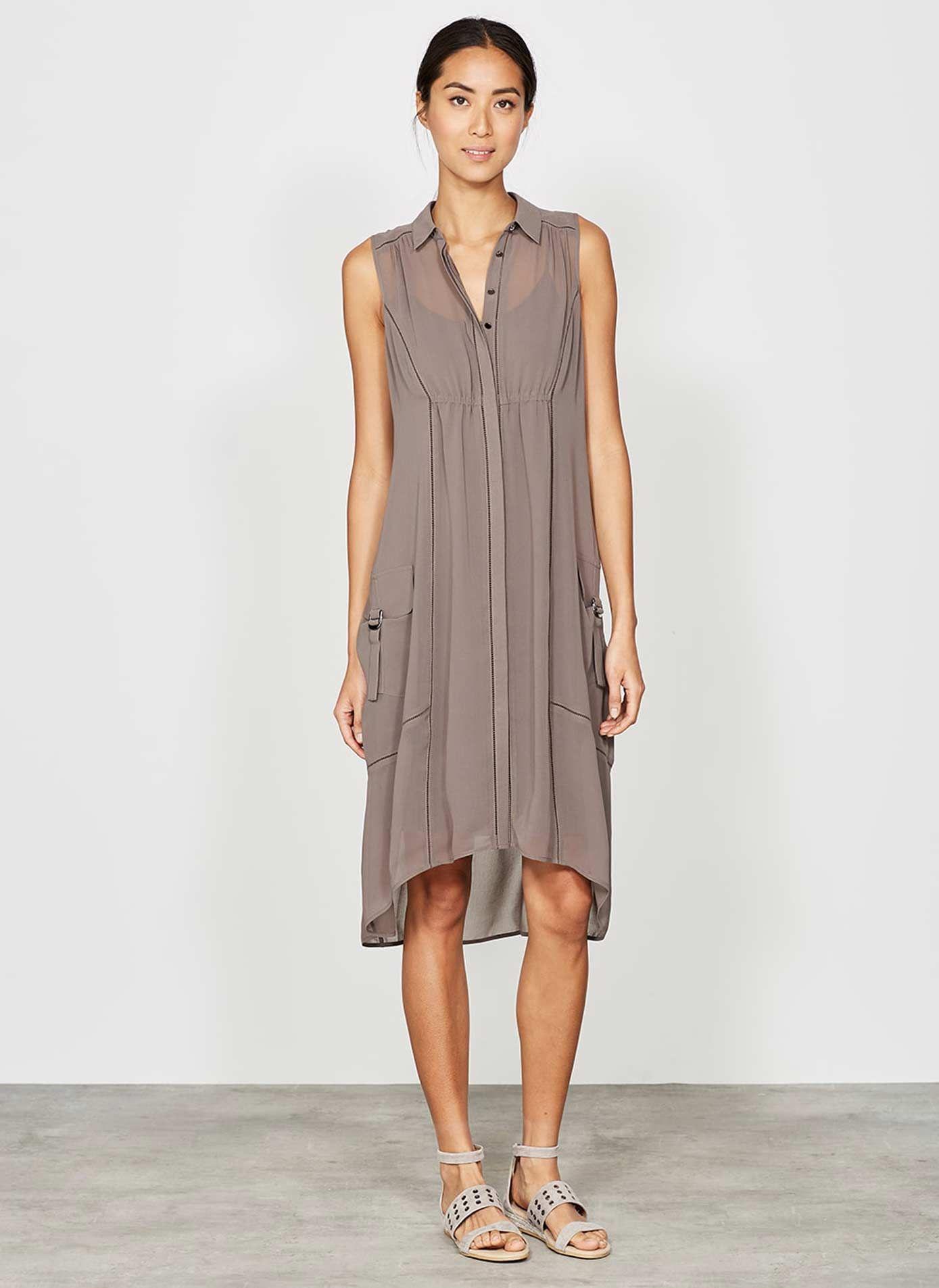 b75c13e231 Mocha Utility Shirt Dress