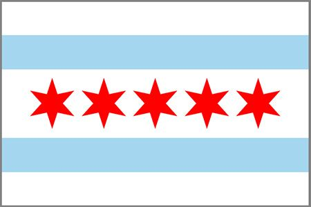 Chicago Flag Chicago Flag Chicago Flag Art Flag Of Chicago