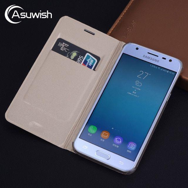 Flip Cover Leather Phone Case For Samsung Galaxy J7 J5 J3 2017 Pro J