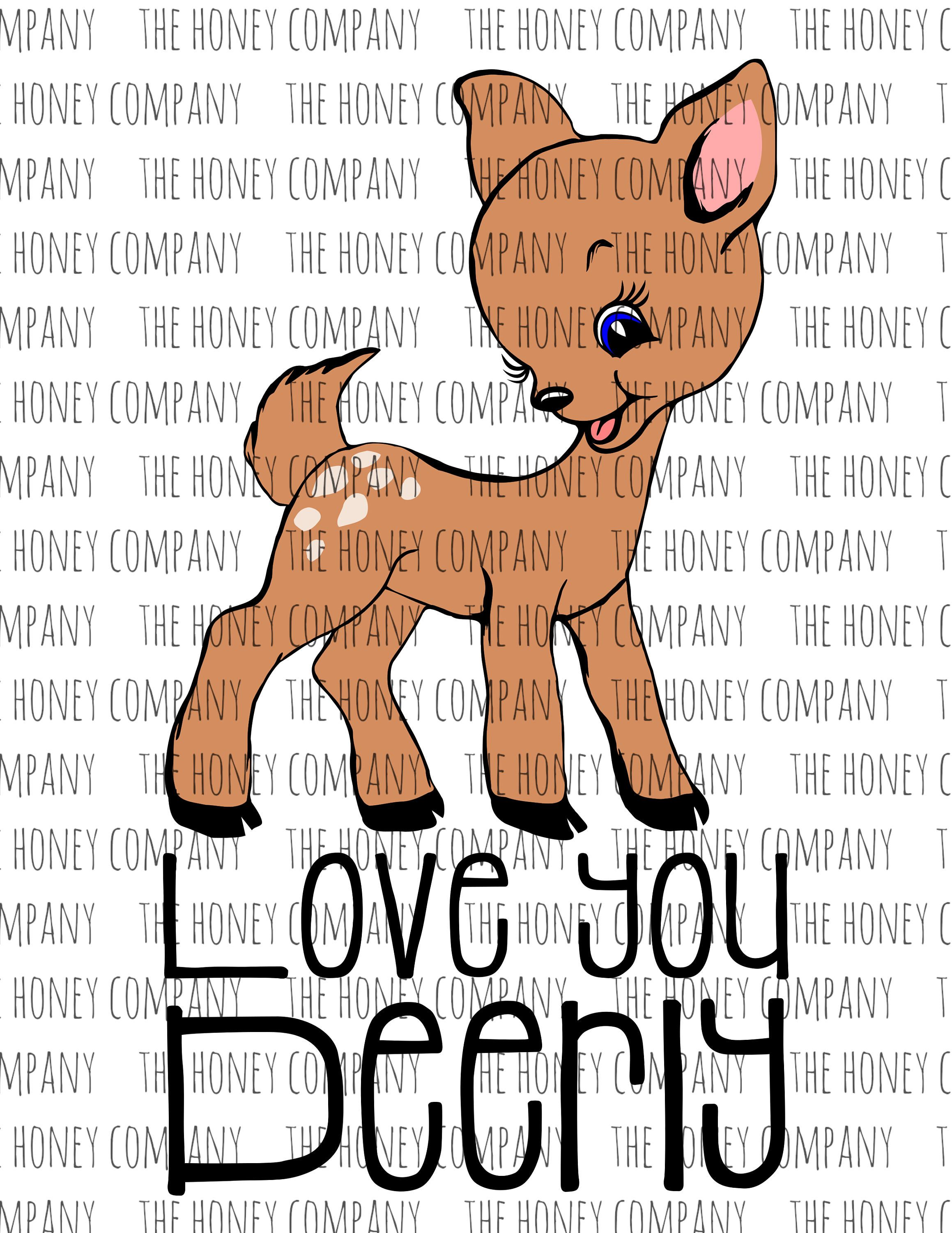 Download Love you deerly svg. Personal and commercial use. # ...
