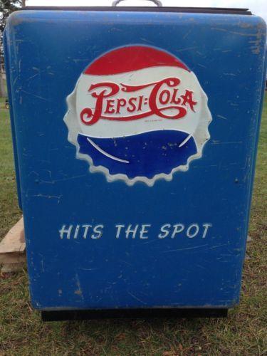 Very Rare Large Vintage Pepsi Cooler 7 Long General Electric Pepsi Pepsi Cola Vintage