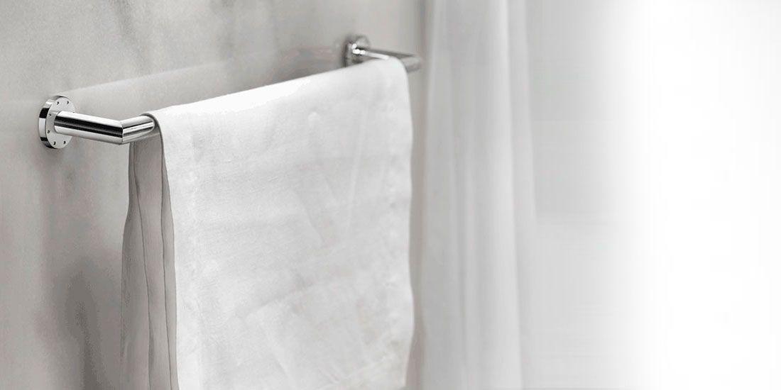 Porte serviette à coller dual - porte serviette salle de bain design