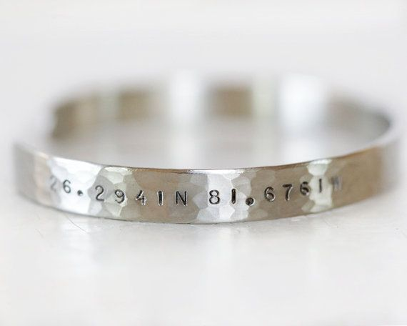 Reserved for Brie - 43.2446N 70.5940W hand engraved on the edge outside Feels like home to me on the inside in STANDARD font by amywaltz #TrendingEtsy