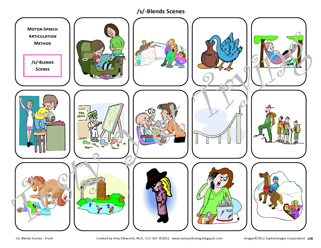 Speech Therapy Kit S Blends Card Sets And Resources
