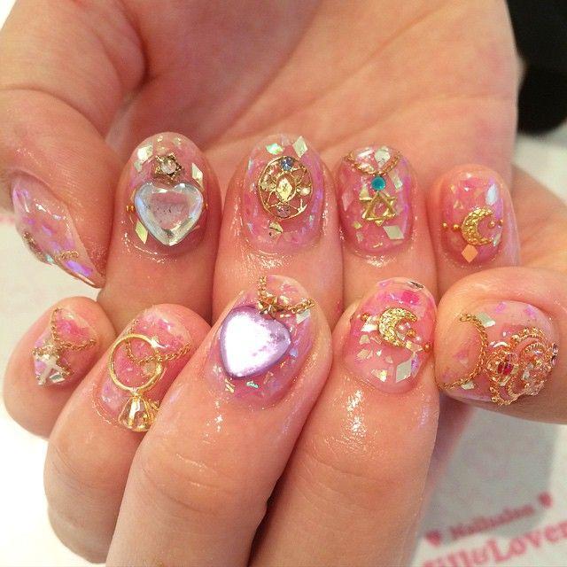 sailor moon nails nailed