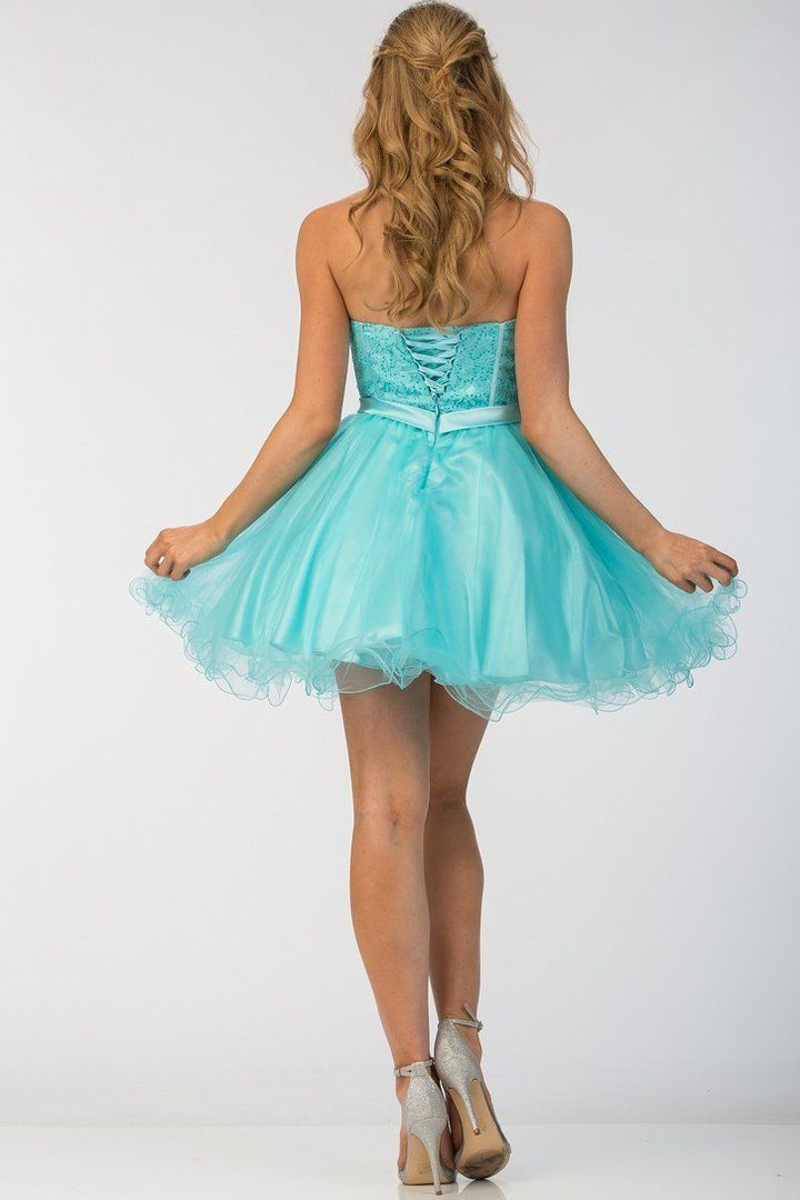 Lilac Sweetheart Strapless Short Cocktail Prom Dress #backlesscocktaildress