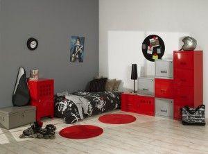 ambiance chambre garçon alu et rougered | Déco | Pinterest | Kids ...