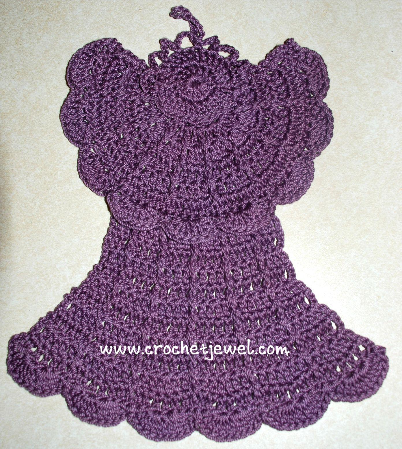 Pretty crochet patterns | Crochet Angel Dishcloth | Crochet ...