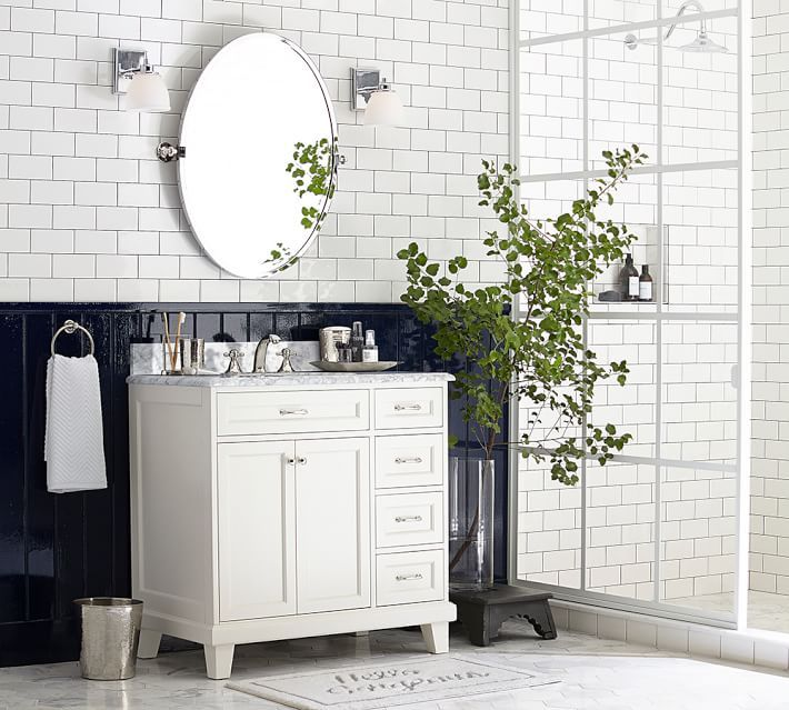 How To Paint A Bathroom Vanity Like A Professional Pottery Barn Bathroom Vanity Single Sink Vanity Pottery Barn Bathroom