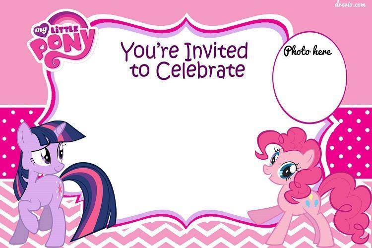 My Little Pony Birthday Invitations Blank Invitation Card