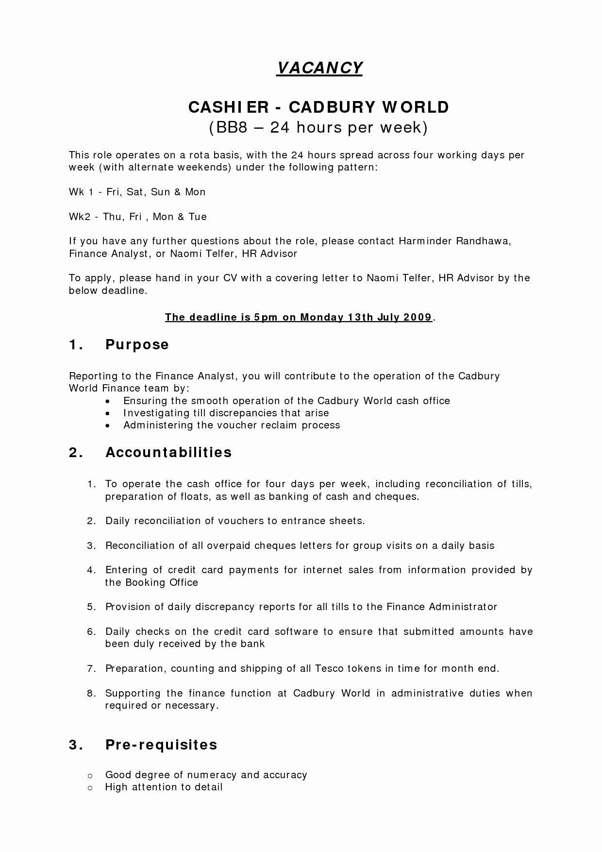 50 Unique Cashier Sales associate Resume (2020) Cashiers
