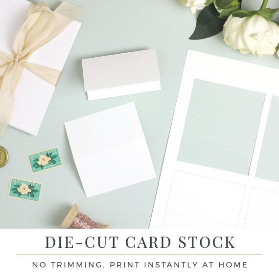 Smooth Edge Place Cards By Everly Papers These Perforated Pop Out After Printing With A Surprisingly