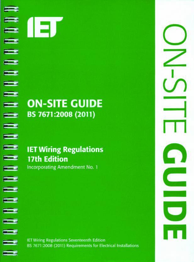 on site iet guide c164be8f jpg 617 834 bs7671 17th edition rh pinterest co uk wiring regulations 17th edition course wiring regulations 17th edition course