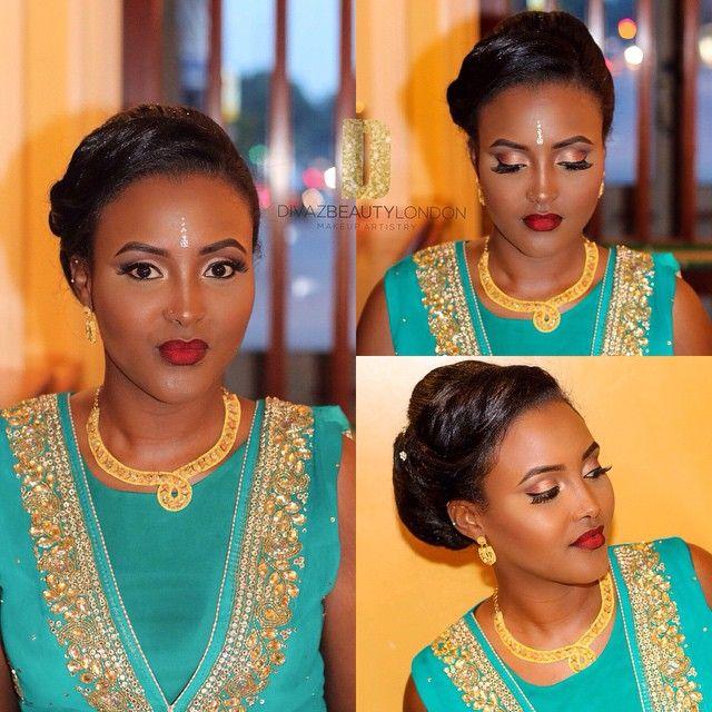 Somali bride Nora ❤️ makeup by @divazbeautylondon