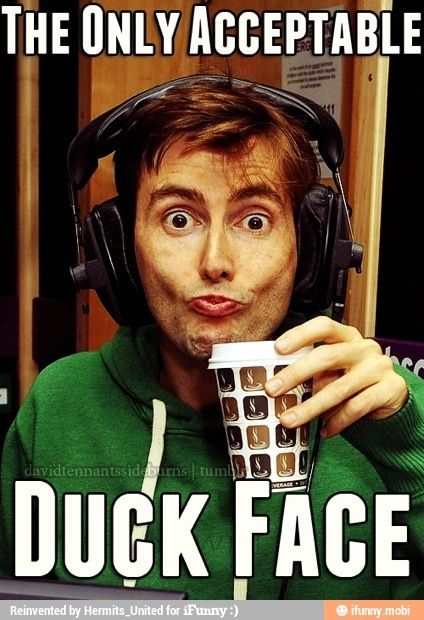 Doctor who  David Tennant duck face