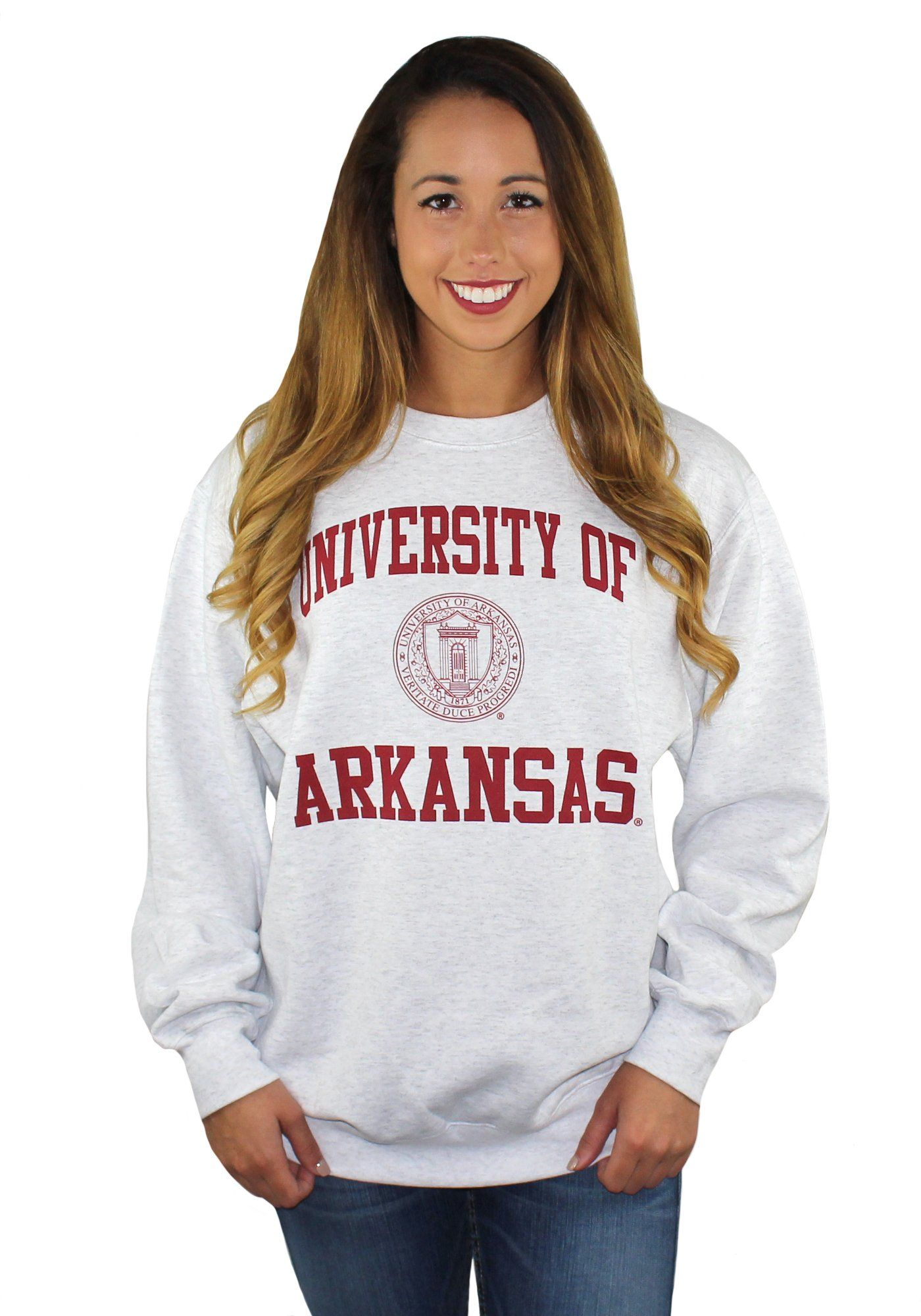 University Of Arkansas Sweatshirt Sweatshirts College Hoodies Sweatshirts Women [ 2000 x 1400 Pixel ]