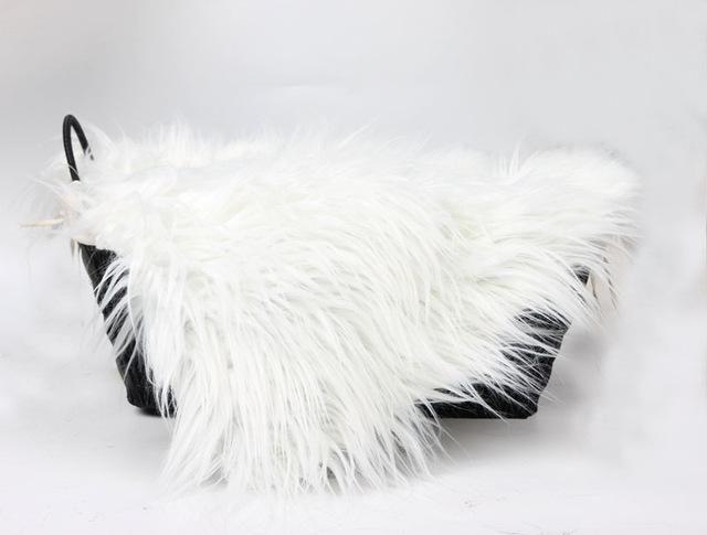 newborn photography props baby Blanket & Swaddling fotografie achtergronden for infant Hand-woven Fur props Receiving Blankets