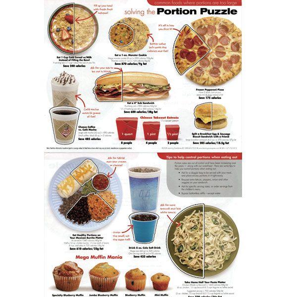 Portion Serving Sizes | portion size handout | Informational