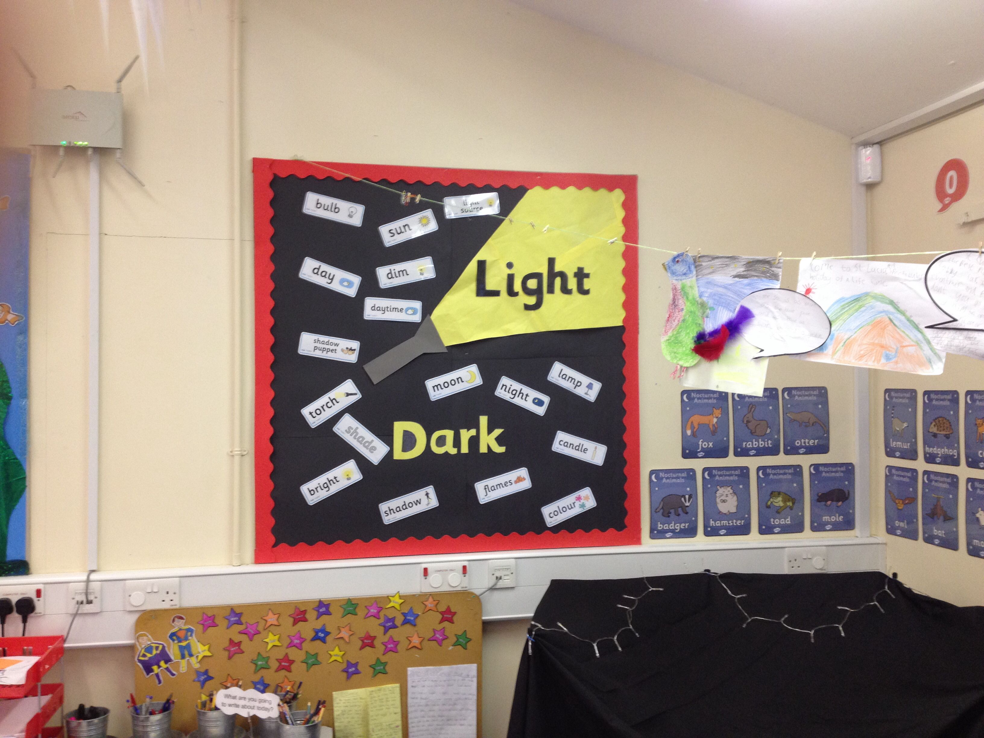 Classroom Lighting Ideas : Light and dark display classroom ideas pinterest