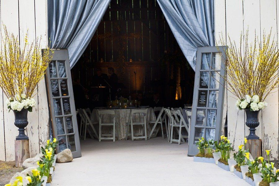 Table seating on doors - Great idea!  Photography By / http://earth13.com,Event Design   Planning By / http://xoxobride.com