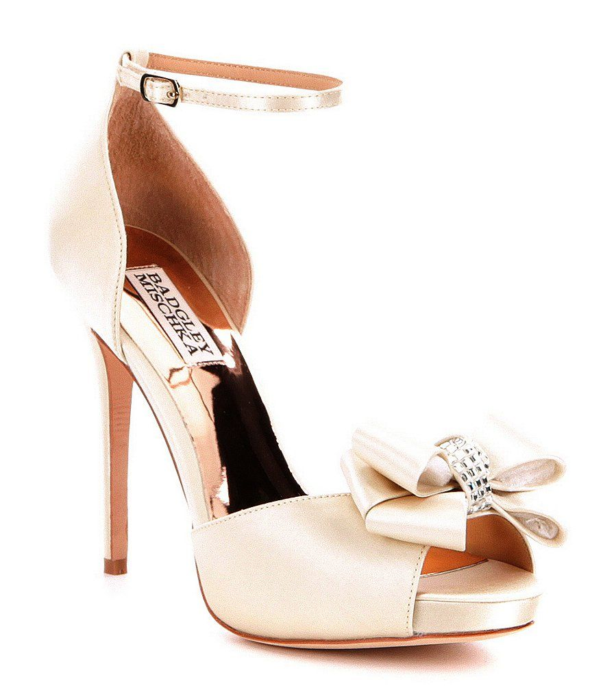Grey outlet store online Badgley Mischka Satin Bow Sandals discount pay with paypal outlet Cheapest 2014 for sale outlet newest ZjqGBj