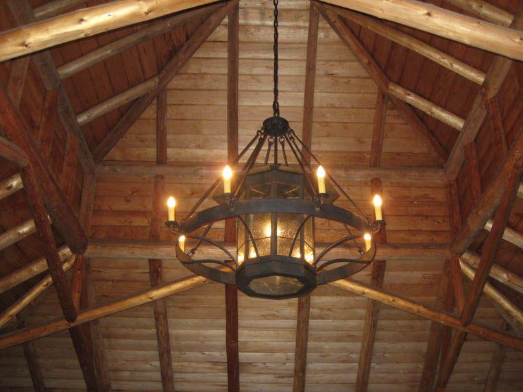 Custom Wrought Iron Chandeliers  Chicken Coop Forge Blacksmith s Design Rustic Lighting