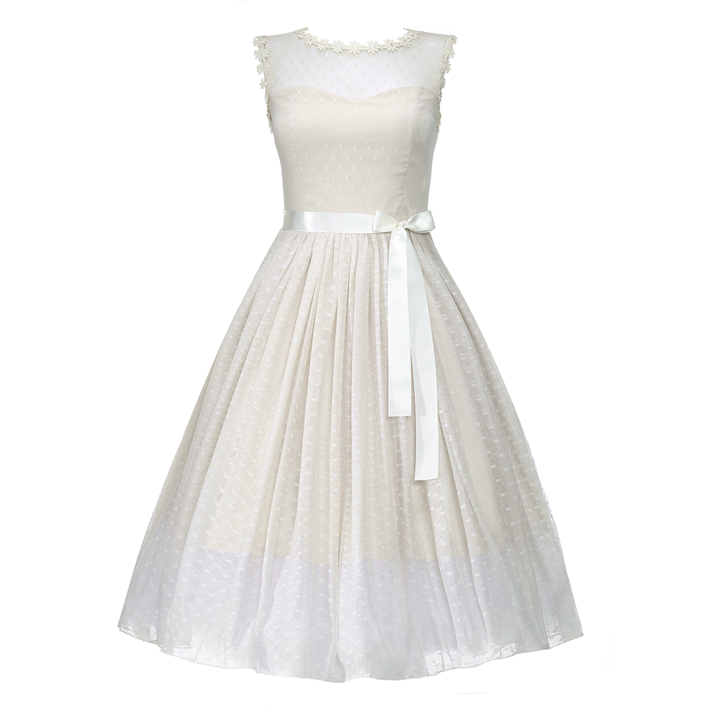Aphrodite champagne occasion dress vintage style dresses for Lindy bop wedding dress