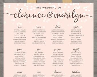 Wedding Table Chart Guest Seating Ignment Printable Chalk Board List Bridal Party Chalkboard Digital Pdf