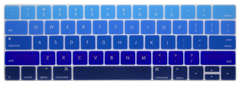 "Chevron Series Soft Blue N Black Silicone Key Cover for Macbook Air 11/"""
