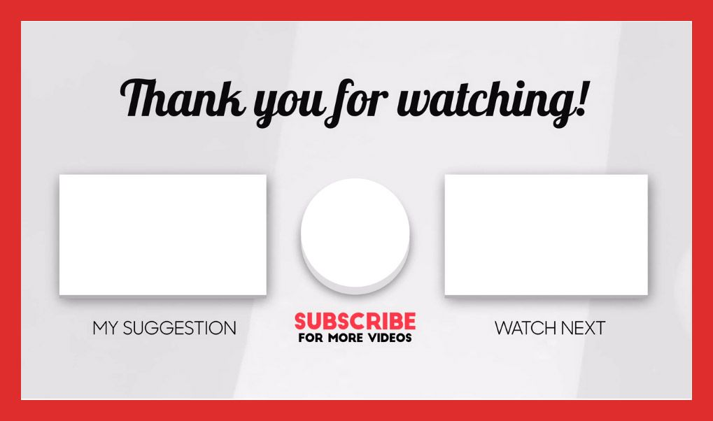 Youtube End Card Templates Free Premium In 2020 Card Templates Free Youtube Banner Template Card Templates