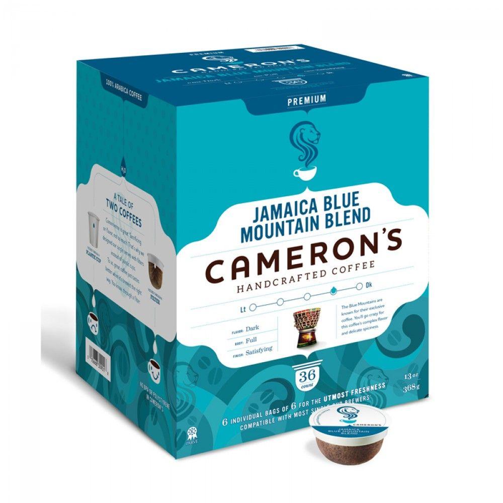 Camerons jamaica blue mountain blend single serve coffee