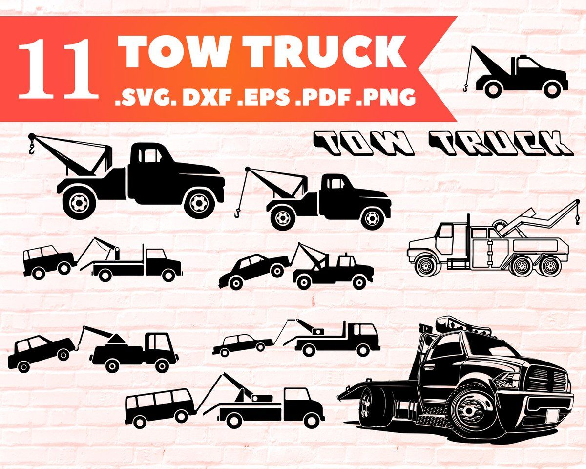 37++ Tow truck clipart vector free info