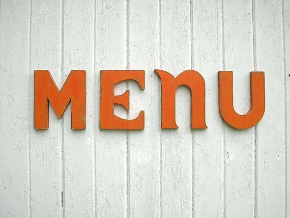 Shabby Chic Wooden Letters Menu Kitchen Sign Word By LettersofWood, $82.00  Sign For Mom