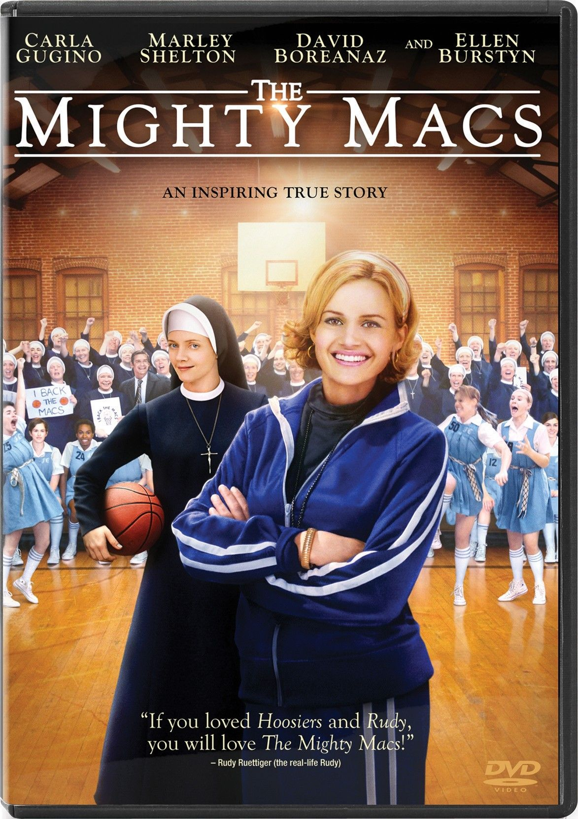 From the inspiring true story comes the tale of one woman who wanted to make a difference and wound up making history! When Coach Cathy Rush (Carla Gugino) arrives at tiny Immaculata College, the women's basketball team has no budget, no uniforms and no gym. Refusing to give up, Cathy finds help from a young nun named Sister Sunday (Marley Shelton). Together, their relentless drive reignites the team's spirit and the Mighty Macs begin conquering bigger and better-funded schools.