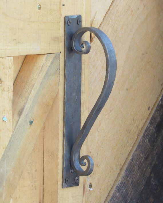 Hand Forged Door Pull Rustic Scroll Door Handle Gate