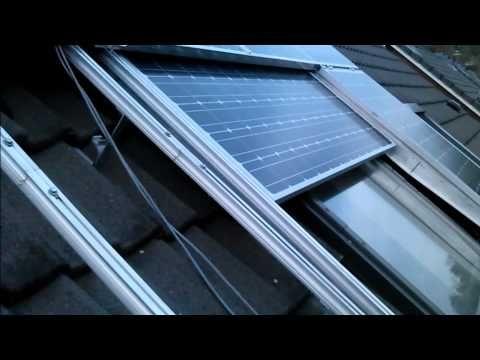 Automatic Sun Screen With Sliding Solar Panels For Roof Window Youtube Zonnepanelen Op Het Dak Solar Zonnepanelen