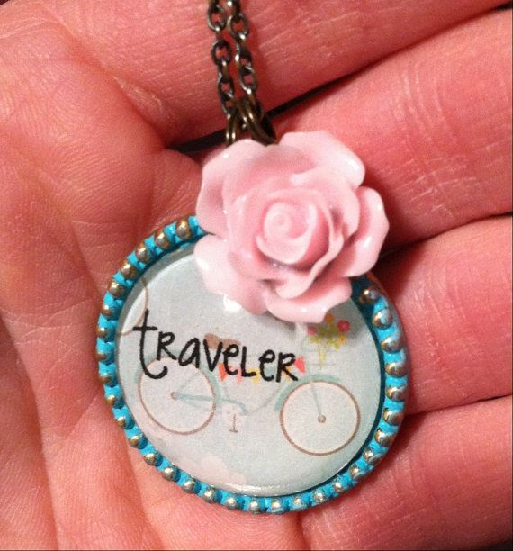 Traveler Necklace  by RachelsOriginalGifts on Etsy ~ Jewelry So Adorable It's ADORNable  TO ORDER: Please visit my FB and/or Etsy pages at the following links!  www.facebook.com/RachelsOriginals  www.rachelsoriginalgifts.etsy.com