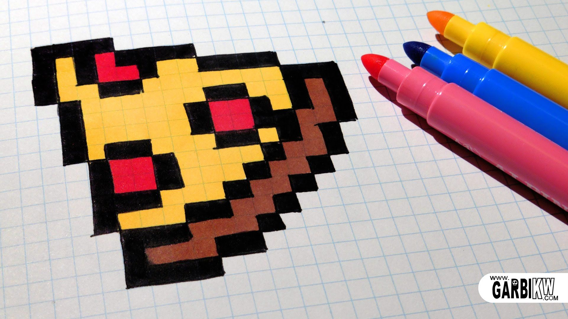 Handmade Pixel Art How To Draw Easy Pizza Pixelart