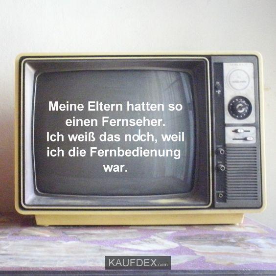 Meine Eltern hatten soeinen Fernseher.Ich weiß das noch, weilich die Fernbedienung war.