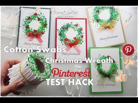 Cotton Swabs Christmas Wreath Painting Pinterest A