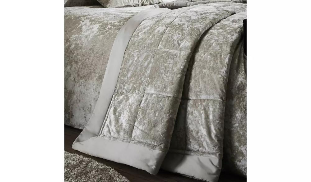 Buy Catherine Lansfield Crush Velvet Natural Duvet Set Kingsize Duvet Cover Sets Argos Duvet Sets Duvet Cover Sets King Size Duvet