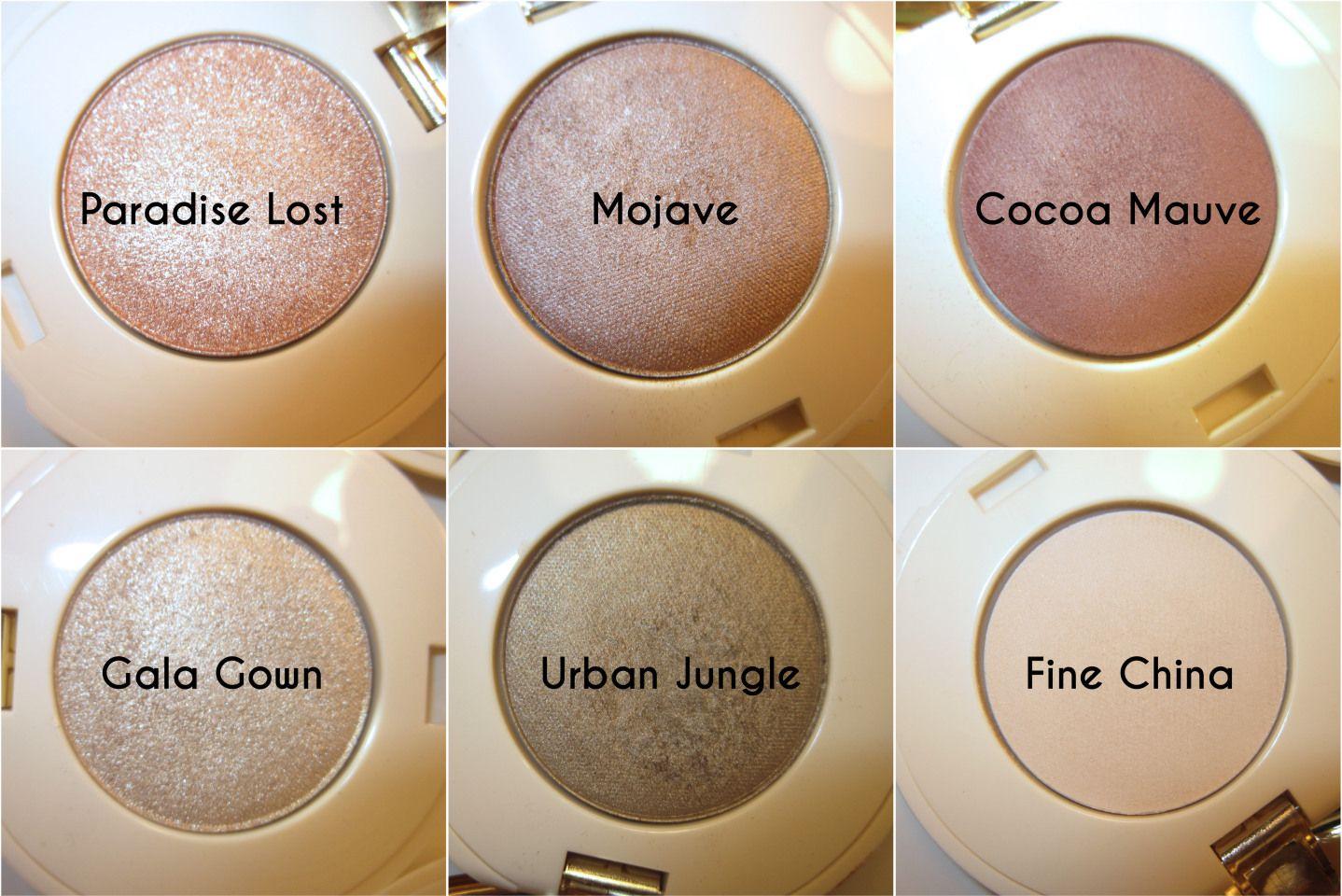 H&M Beauty eyeshadows: Paradise Lost, Mojave, Cocoa Mauve, Gala Gown, Urban Jungle, Fine China