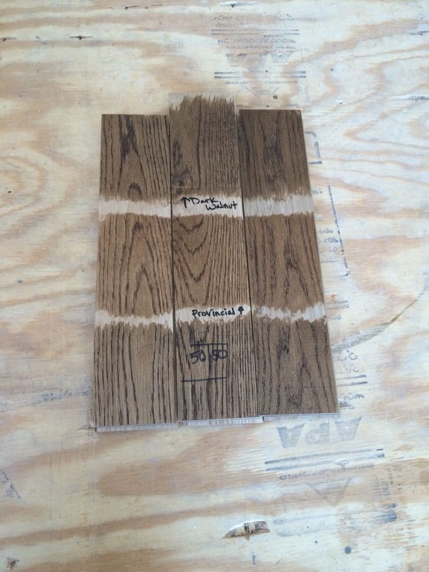 Picking A Minwax Stain Dark Walnut Provincial Or 50 Mix