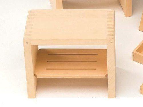 Amazon.com - Made in Japan Hiba Pure Wood Bath Stool Square Type - Home Bar And Bar Stool Sets