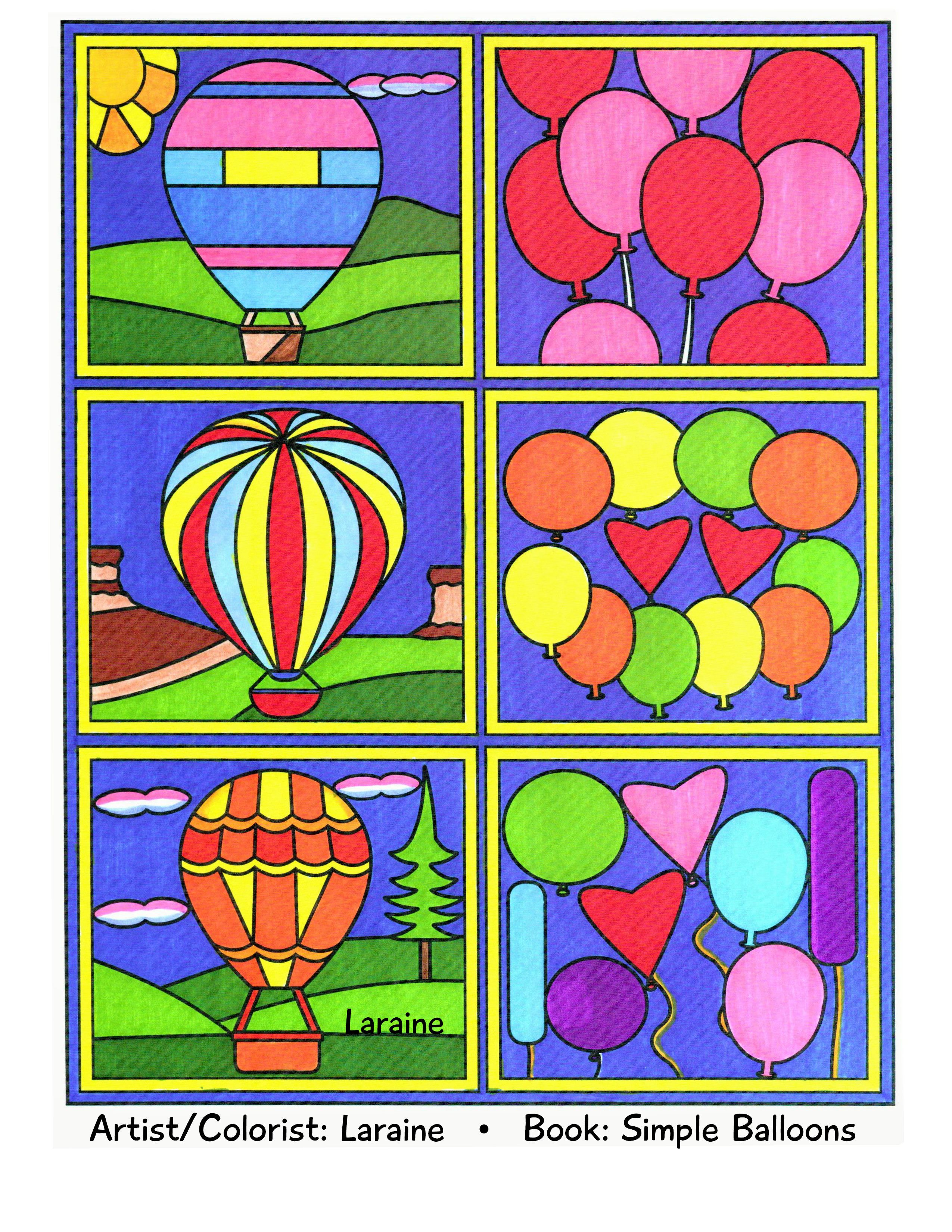 Adult coloring page called Balloon Blocks. Artist/colorist is ...